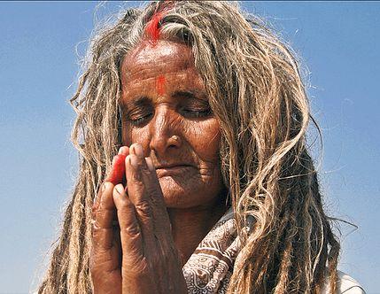 Sadhu woman-cr